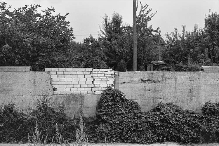 »Lückenschließung«, aus dem Portfolio »Bilder einer Ausstellung – Versuch einer Rekonstruktion«, Foto © Friedhelm Denkeler 1979