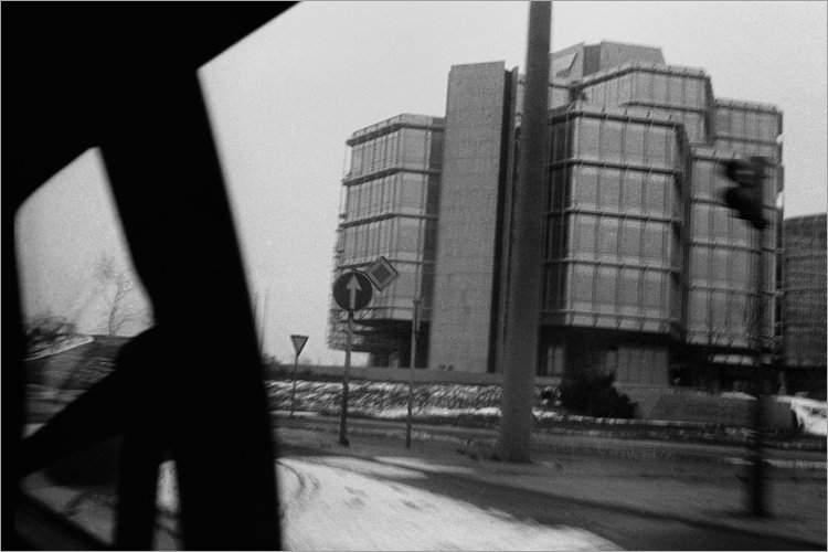 »Modernes Gebäude in Hannover«, aus dem Portfolio »Bilder einer Ausstellung – Versuch einer Rekonstruktion«, Foto © Friedhelm Denkeler 1979