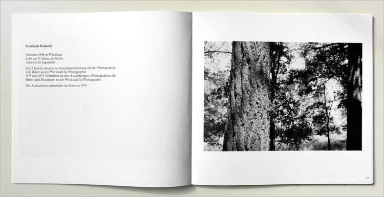 """Katalog der Werkstatt für Photographie: """"Michel Schmidt und Schüler"""", Ausstellung in der Werkstatt: 28.01. bis 29.02.1980"""