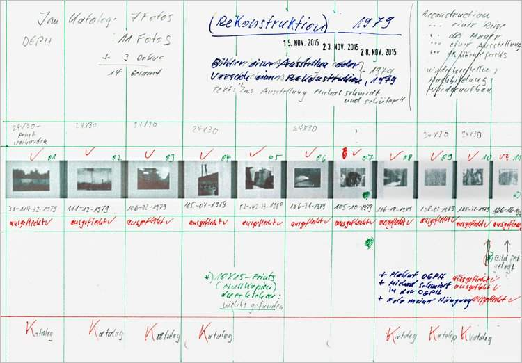»Notizen zur Ausstellung »Bilder einer Ausstellung – Versuch einer Rekonstruktion«, 1979