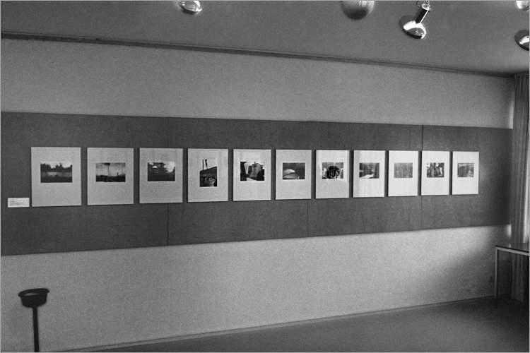 Ausstellung »Michael Schmidt und Schüler« in der Galerie der DGPh«, 04.08. bis 13.09.1980 (meine Fotos nach der Hängung am 2. August 1980), Foto © Friedhelm Denkeler 1980