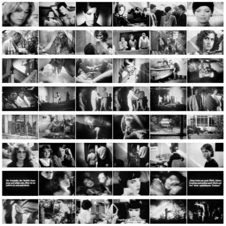 Portfolio »Episoden« 1. Reihe aus »Romy«, 2. Reihe aus »Augiasstall«, 3. Reihe aus »Feigen«, 4. Reihe aus »Sonny 'Ray Ban' Crockett«, 5. Reihe aus »Tödliche Umarmung«, 6. Reihe aus »Pomme, die Wäscherin«, 7. Reihe aus »Die Freundin des Teufels«, 8. Reihe aus »Verbotene Filme«, 1984