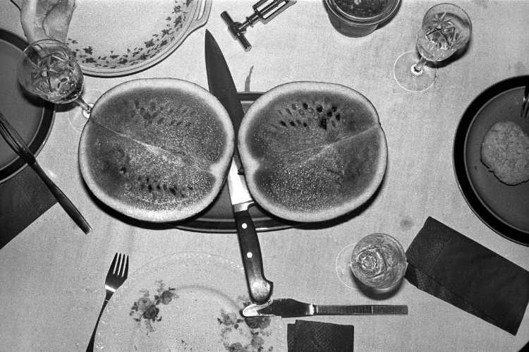 »Wassermelone«, aus dem Portfolio »Harmonie eines Augenblicks«, Foto © Friedhelm Denkeler 1980