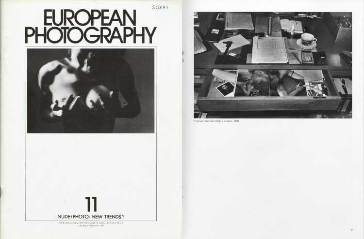 EUROPEAN PHOTOGRAPHY Nr. 11, Juli/August/September 1982, Thema: Nude/Photo: New Trends?