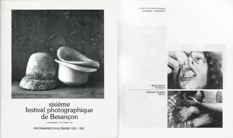 Katalog »sixième festival photographique de Besancon«, Photographies en Allemagne 1920 - 1982