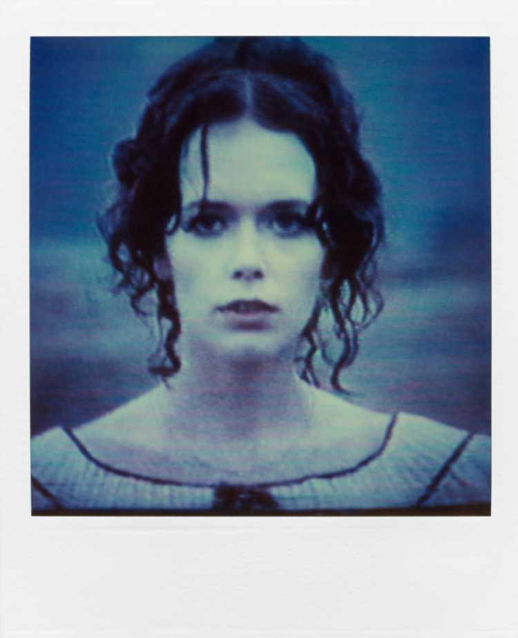»Silvia Kristel«, aus der Serie »TV-Porträt«, Polaroid SX-70, Foto © Friedhelm Denkeler 1987