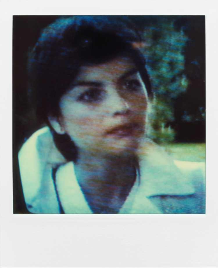 »Yolande Folliot«, aus der Serie »TV-Porträt«, Polaroid SX-70, Foto © Friedhelm Denkeler 1987