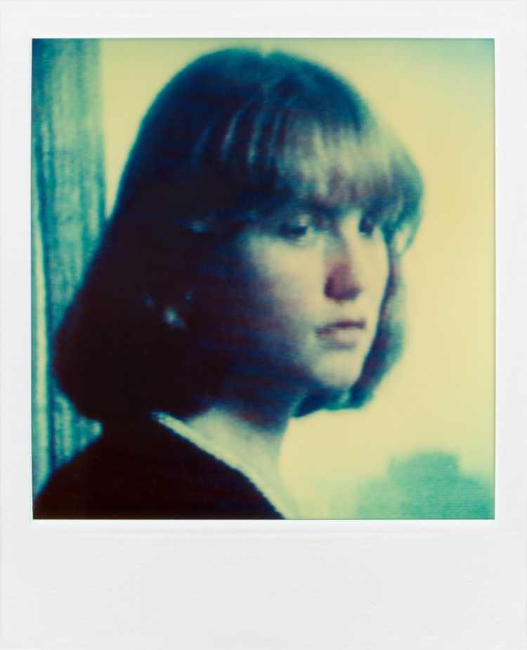»Isabella Huppert«, aus der Serie »TV-Porträt«, Polaroid SX-70, Foto © Friedhelm Denkeler 1987