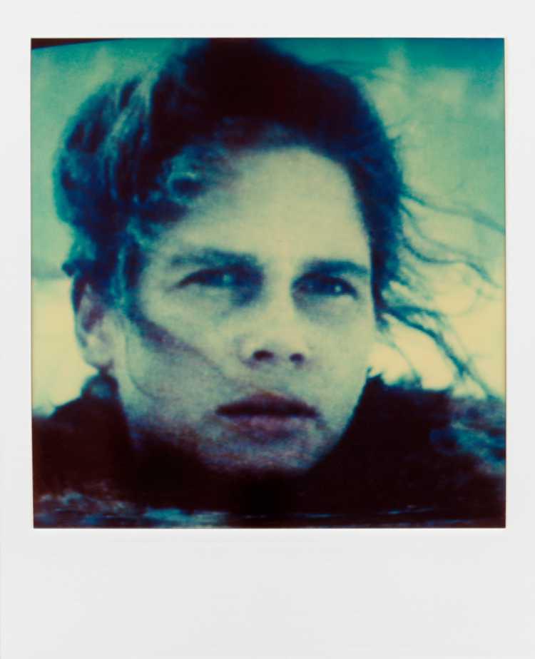 »Birgit Doll«, aus der Serie »TV-Porträt«, Polaroid SX-70, Foto © Friedhelm Denkeler 1987
