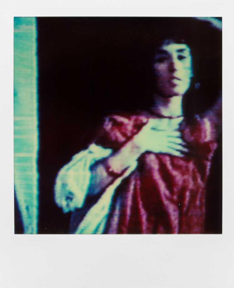 »Am Fenster«, Isabelle Adjani in »Ein mörderischer Sommer« (L'été meutrier) von Jean Becker, Polaroid SX-70, Foto © Friedhelm Denkeler 1987