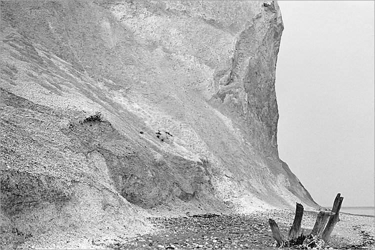 »Die Klippen von Møns Klint«, aus dem Portfolio »Møns Klint«, Foto © Friedhelm Denkeler 1983