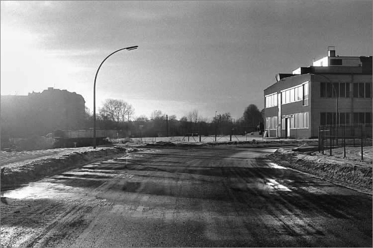 »Winteridylle am Sieversufer in Neukölln«, Foto © Friedhelm Denkeler 1979