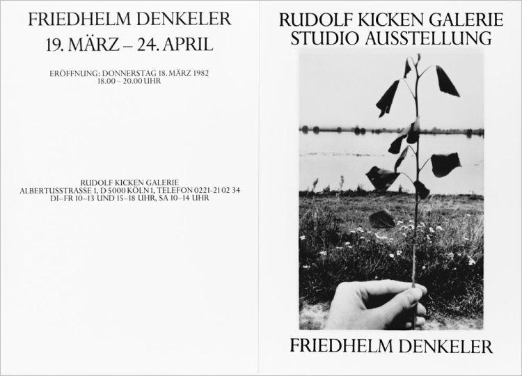 Einlaldungskarte Rudolf Kicken Galerie »Friedhelm Denkeler – Photographien«, Einzelausstellung, Köln, 19. März bis 24. April 1982