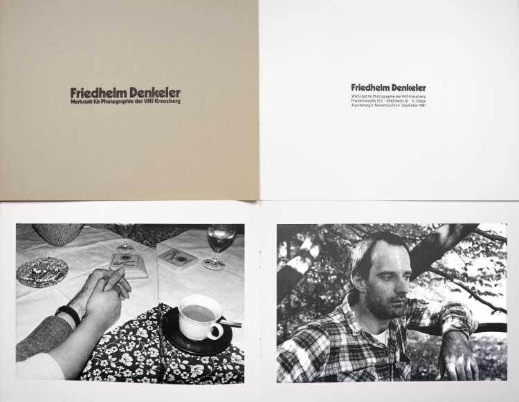 Katalog zur Einzelausstellung »Friedhelm Denkeler – Photographien«, Werkstatt für Photographie, 2. November bis 4. Dezember 1981