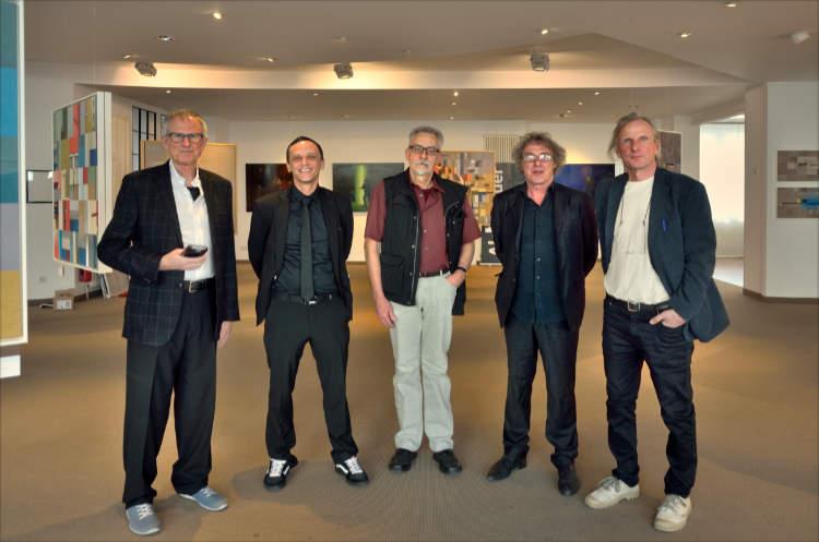 Die fünf von der »momenta«, Ausstellung »momenta« im Roxy-Palast Berlin-Friedenau, Foto © Friedhelm Denkeler 2018