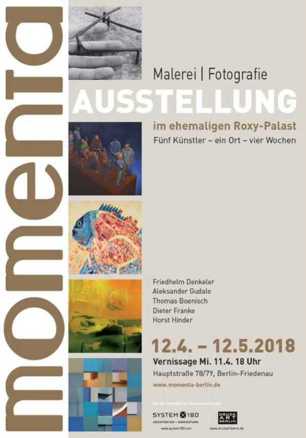 Plakat zur »momenta« in Berlin-Friedenau 2018 (ehemaliger Roxy-Palast)