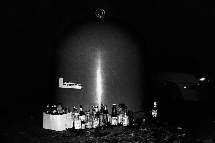 »Ein wilder Tag in Kreuzberg: 6 Die Nacht«, Foto © Friedhelm Denkeler 1989