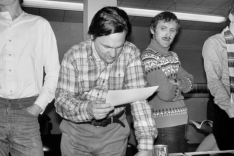 »Szenen aus der Werkstatt für Photographie«: »Workshop mit Larry Fink in der Werkstatt für Photographie«, 20. bis 21.09.1980, Foto © Friedhelm Denkeler 1981