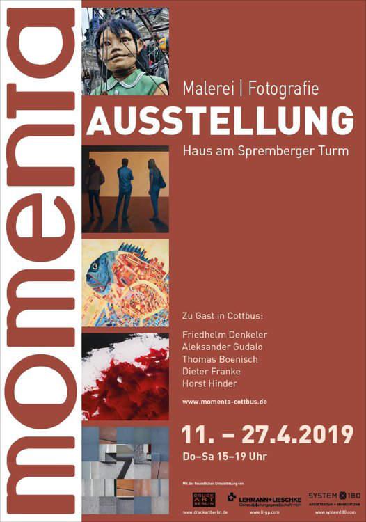 Plakat zur Ausstellung »momenta in Cottbus«, 2019