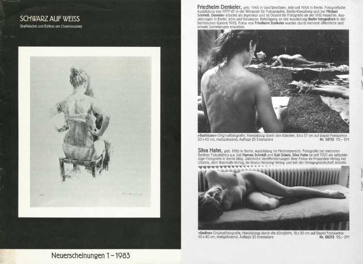 »Schwarz auf Weiß – Grafikladen und Edition am Chamissoplatz« (Fred Lothar Klein), Neuerscheinungen 1 – 1983
