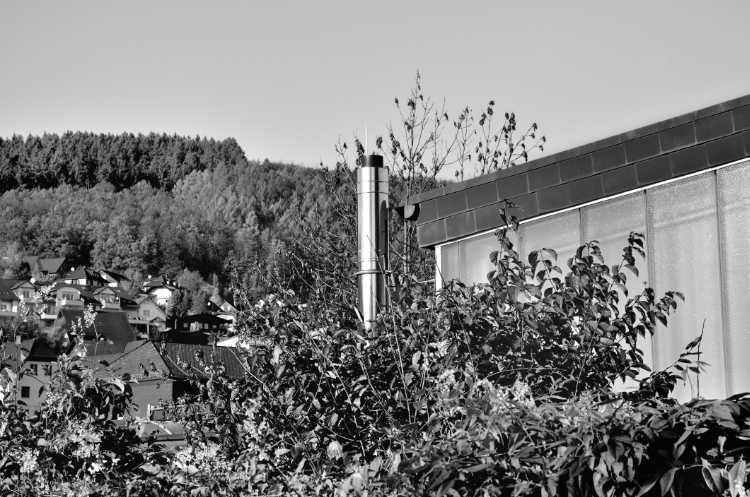 »Nirosta-Schornstein«, aus dem Portfolio »Köbbinghauser Hammer«, 2014, Foto © Friedhelm Denkeler 2008