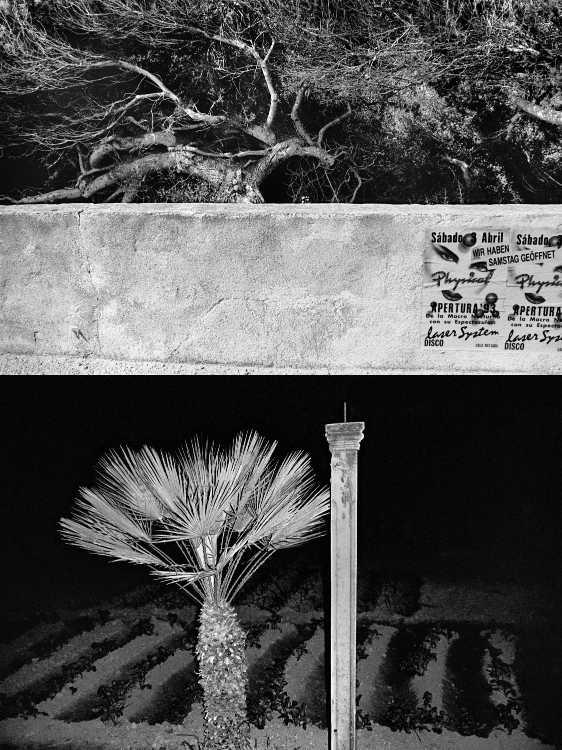 Aus dem Portfolio »Eine Mallorquinische Nacht« (Samstags geöffnet/ Zwei Schöne bei Nacht), Foto © Friedhelm Denkeler 1993