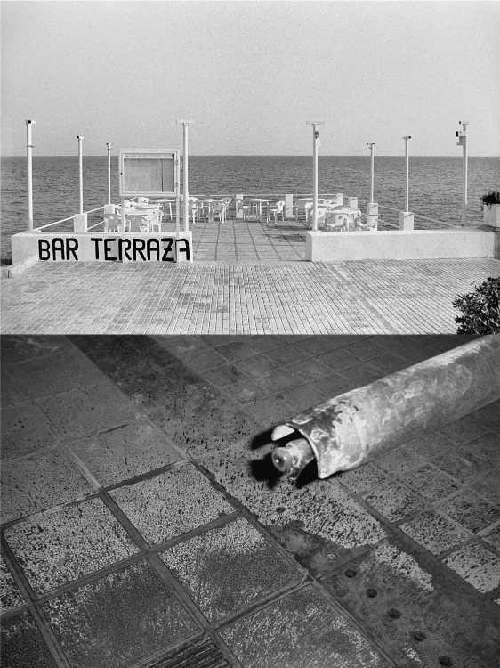 Aus dem Portfolio »Eine Mallorquinische Nacht« (Bar Terraza/ Rolle), Foto © Friedhelm Denkeler 1993