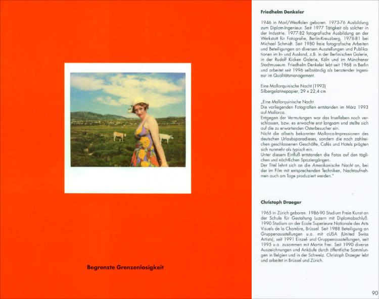Katalog zur Ausstellung »Begrenzte Grenzenlosigkeit – Bilderreise«, Neue Gesellschaft für bildende Kunst NGBK),1996