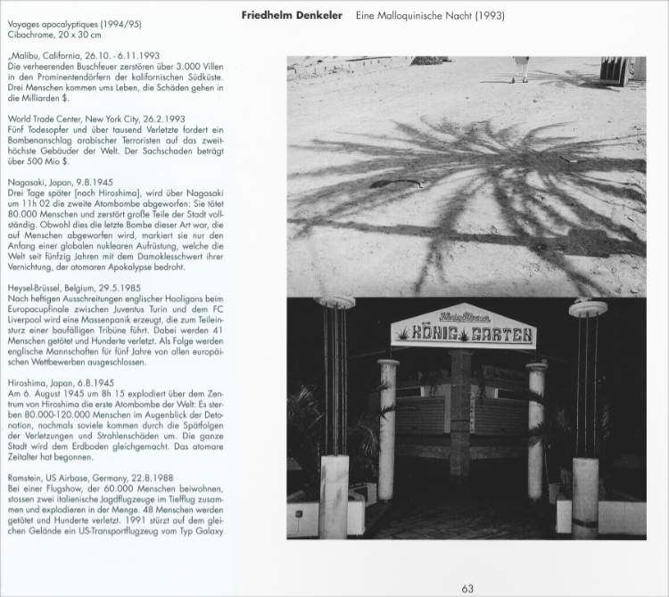 Katalog zur Ausstellung Katalog zur Ausstellung »Begrenzte Grenzenlosigkeit – Bilderreise«, Neue Gesellschaft für bildende Kunst NGBK),1996