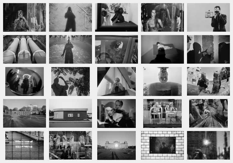 Indexprint zum Portfolio »Schatten und Spiegel», Selbstbildnisse 1976 bis 2020