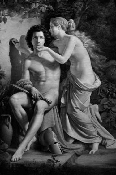 Eduard Daege: »Erfindung der Malerei«, 1832