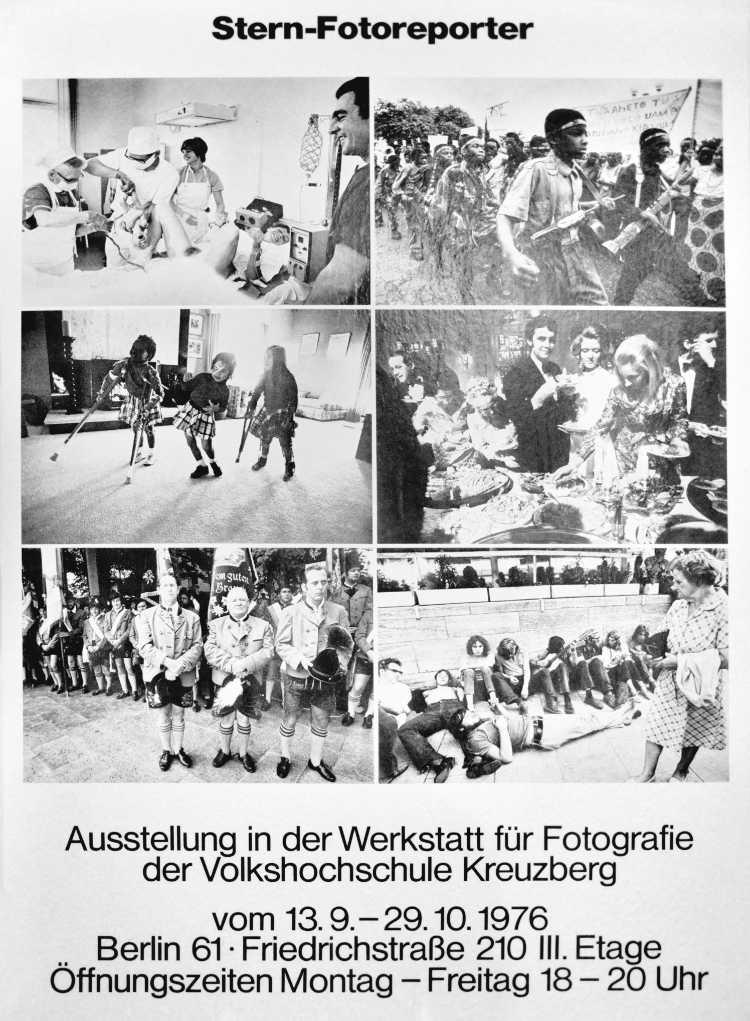 Plakat der »Werkstatt für Photographie«: »Stern-Fotoreporter«, 1976, Foto © Friedhelm Denkeler