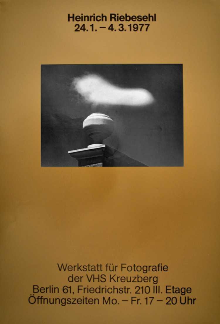 Plakat der Werkstatt für Photographie: »Heinrich Riebesehl« , 1977, Foto © Friedhelm Denkeler