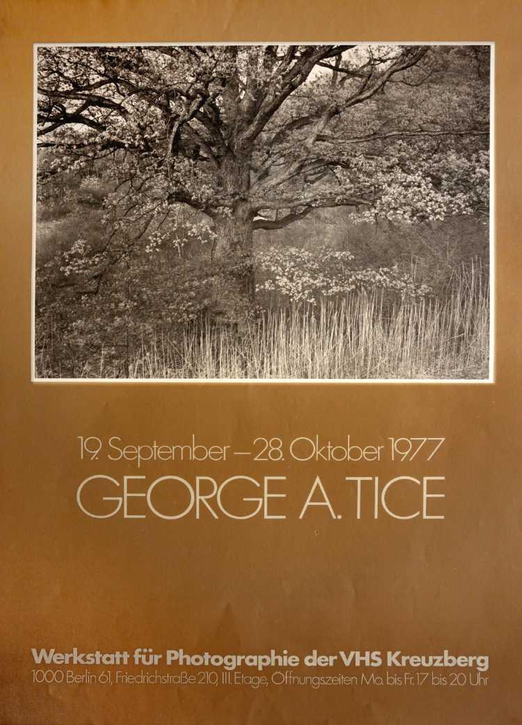 Plakat der Werkstatt für Photographie: »George A. Tice«, 1977, Foto © Friedhelm Denkeler