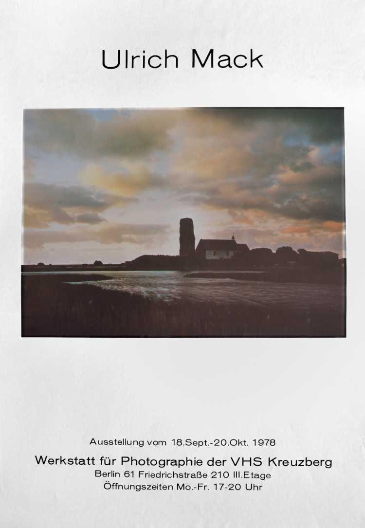 Plakat der Werkstatt für Photographie: »Ulrich Mack«, 1978, Foto © Friedhelm Denkeler