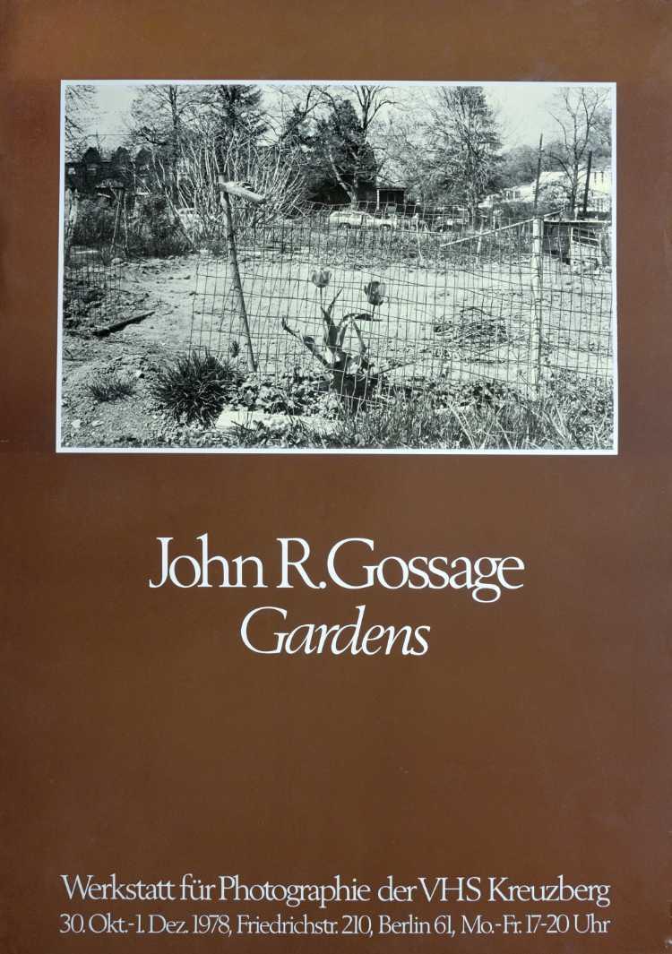 Plakat der Werkstatt für Photographie: »John R. Gossage – Gardens«, 1978, Foto © Friedhelm Denkeler