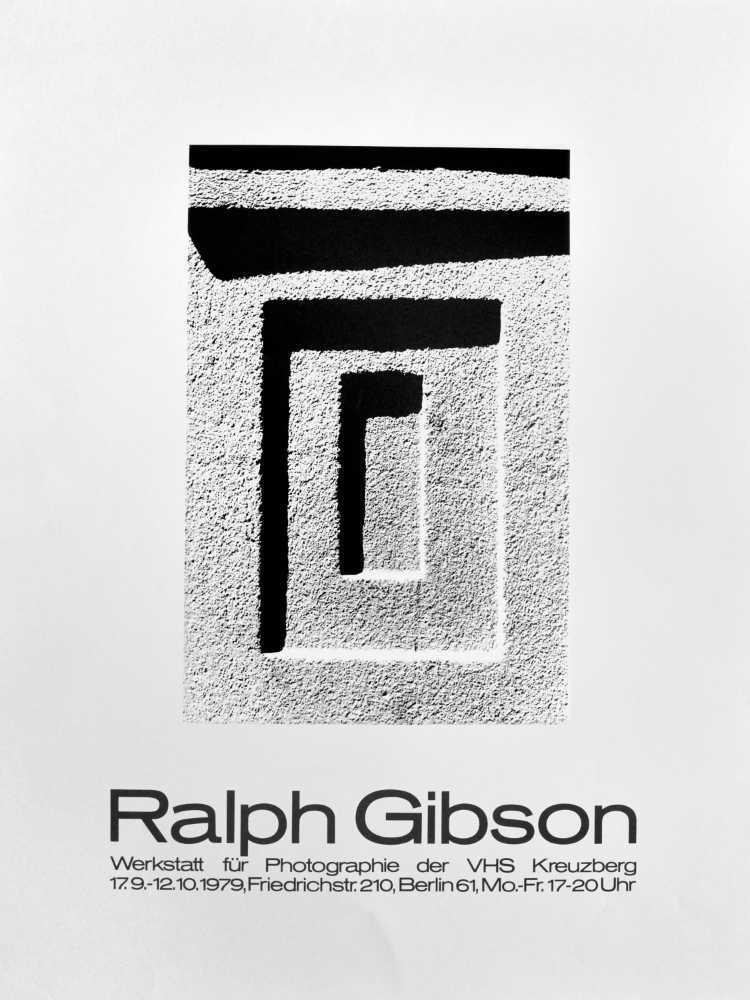 Plakat der Werkstatt für Photographie: »Ralph Gibson«, 1979, Foto © Friedhelm Denkeler