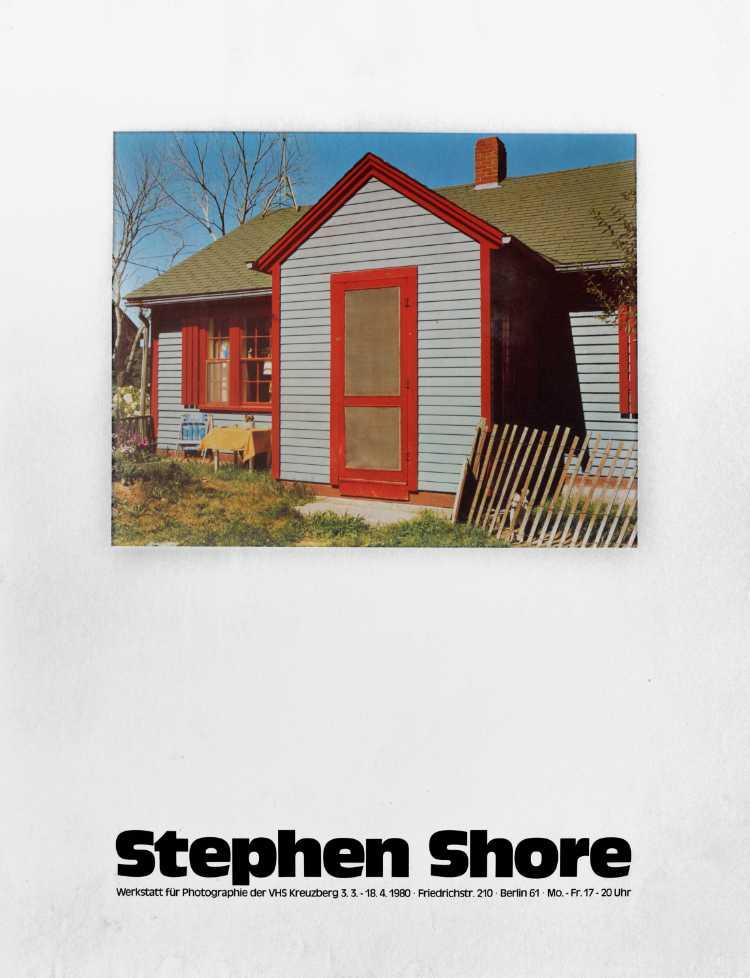 Plakat der Werkstatt für Photographie: »Stephan Shore«, 1980, Foto © Friedhelm Denkeler
