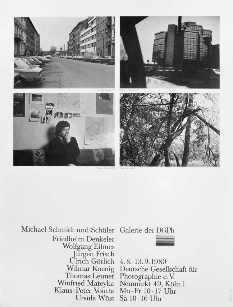 Plakat der Werkstatt für Photographie: »Michael Schmidt und Schüler«, Galerie der DGPh, 1980, Foto © Friedhelm Denkeler