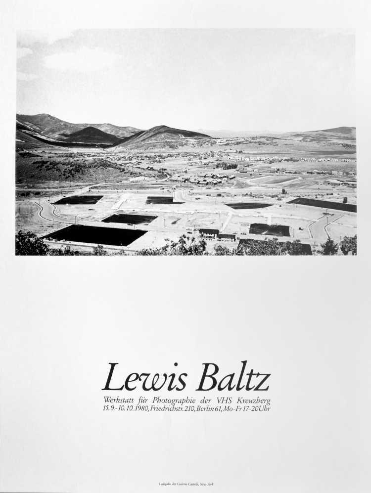 Plakat der Werkstatt für Photographie: »Lewis Baltz«, 1980, Foto © Friedhelm Denkeler