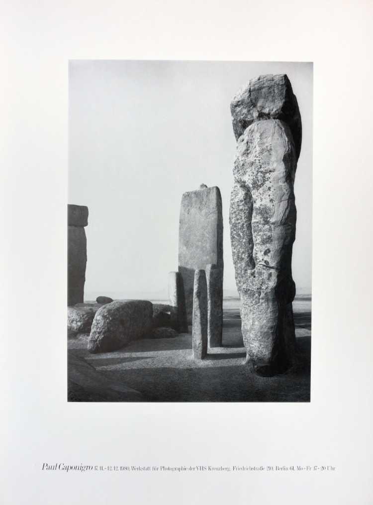 Plakat der Werkstatt für Photographie: »Paul Caponigro«, 1980, Foto © Friedhelm Denkeler