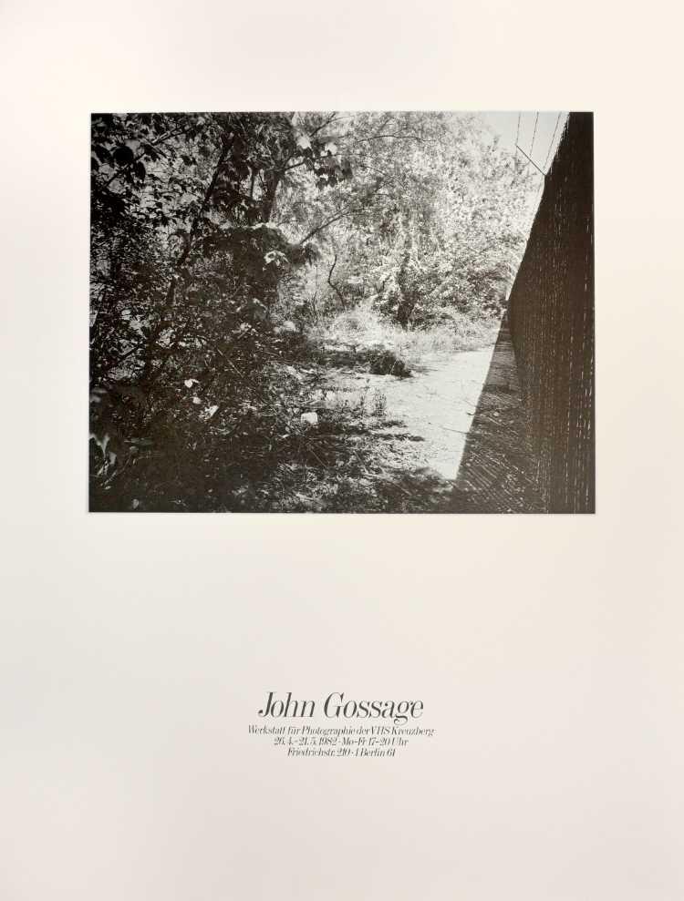 Plakat der Werkstatt für Photographie: »John Gossage«, 1982, Foto © Friedhelm Denkeler