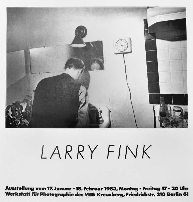 Plakat der Werkstatt für Photographie: »Larry Fink«, 1983, Foto © Friedhelm Denkeler