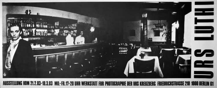 Plakat der Werkstatt für Photographie: »Urs Lüthi«, 1983, Foto © Friedhelm Denkeler