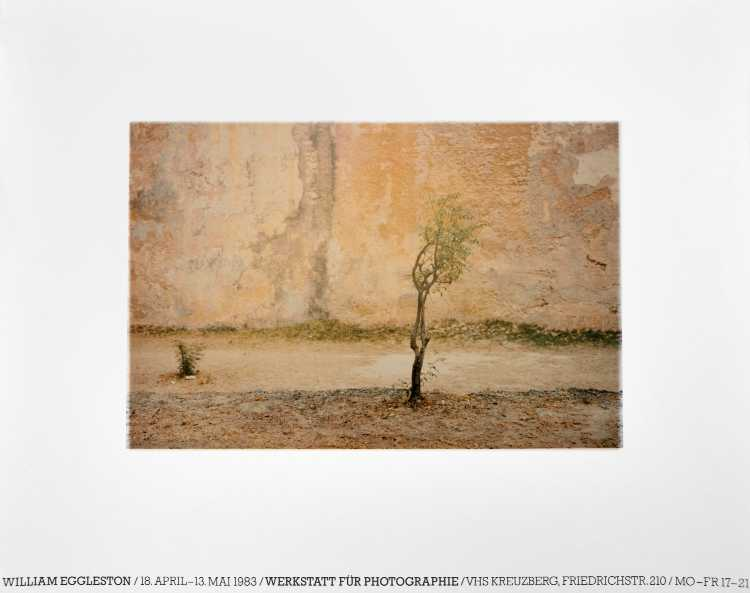 Plakat der Werkstatt für Photographie: »William Eggleston«, 1983, Foto © Friedhelm Denkeler