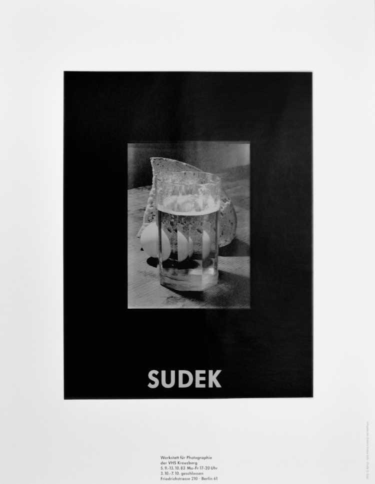 Plakat der Werkstatt für Photographie: »SUDEK«, 1983, Foto © Friedhelm Denkeler