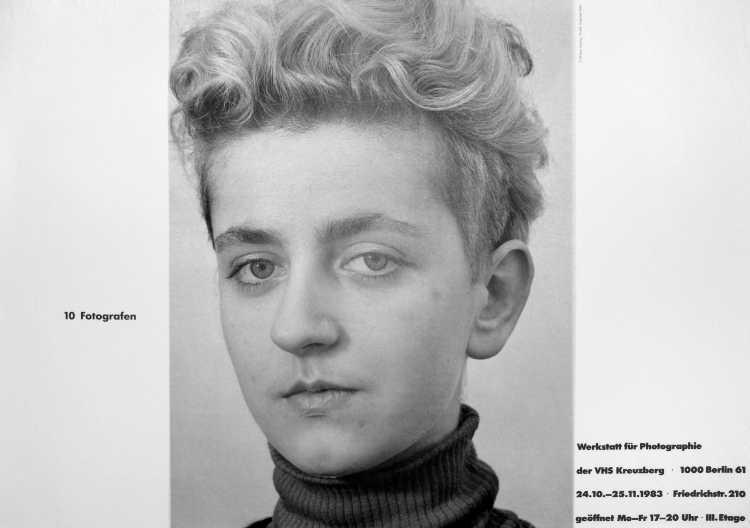 Plakat der Werkstatt für Photographie: »10 Fotografen«, 1983, »Arbeiten '83 – Werkstatt für Photographie«, Foto © Friedhelm Denkeler