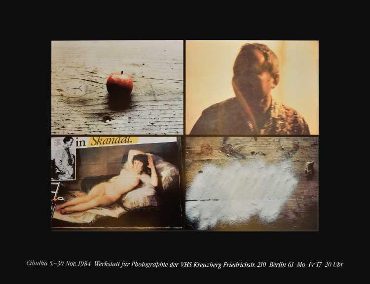 Plakat der Werkstatt für Photographie: »Heinz Cibulka«, 1984, Foto © Friedhelm Denkeler