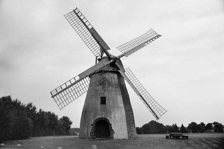 »Windmühle Auf der Höchste in Hille«, Mühle Nr. 20 (Erd-Holländer), Höchste 10, 32479 Hille, Foto © Friedhelm Denkeler 2003