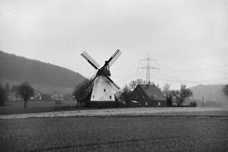 »Windmühle Struckhof in Schnathorst«, Mühle Nr. 35 (Wall-Holländer), Wulferdingser Straße 16, 32609 Hüllhorst-Schnathorst, Foto © Friedhelm Denkeler 2006